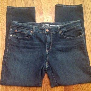 Levi's signature straight stretch 34x30 jeans